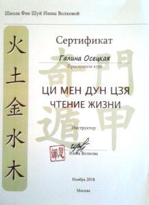 Еще один диплом. Курс Ци Мен Дун Цзя. Чтение жизни.